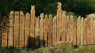 Light Wood Fence
